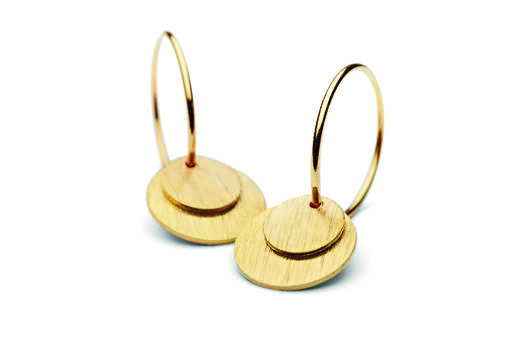 PERNILLE CORYDON Small Coin Earrings kulta