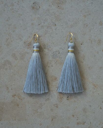 AIDA IMPACT tassel earrings silver