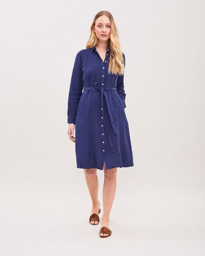NEWHOUSE Eleonore Linen Shirtdress