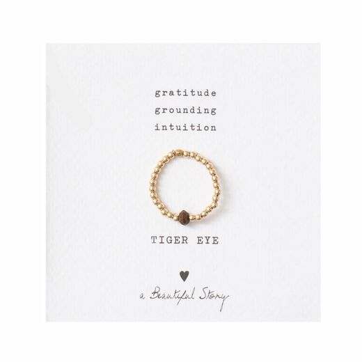 A BEAUTIFUL STORY Sparkle Tiger Eye Ring