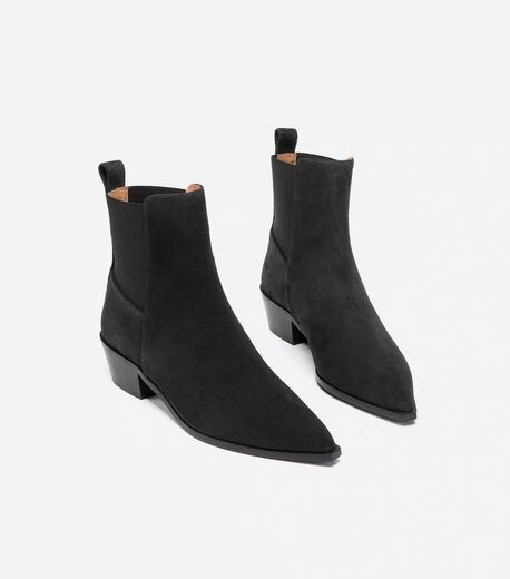 FLATTERED Willow black suede