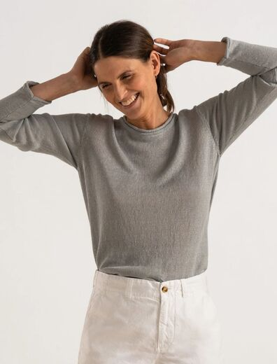 BOOMERANG Lollo Linen Sweater harmaa