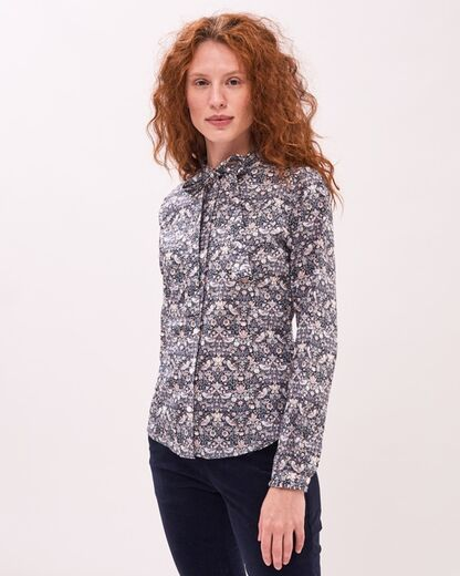 NEWHOUSE Laura Liberty Bow Tie Shirt