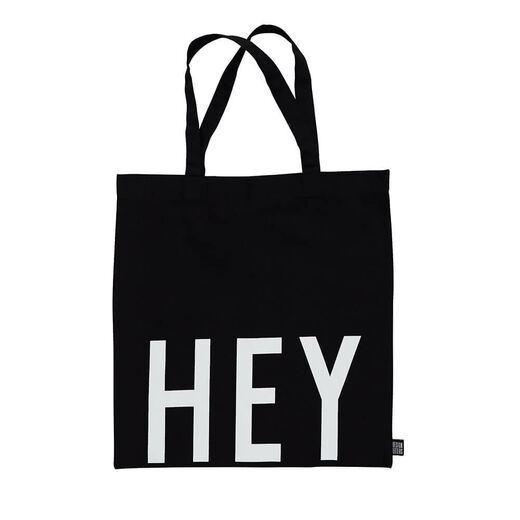 DESIGN LETTERS HEY Totebag black