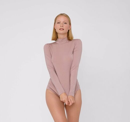 ORGANIC BASICS Lite Turtle Neck Dusty Rose