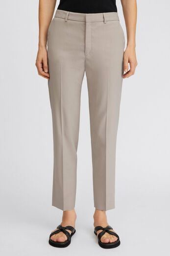 FILIPPA K Emma Cropped Cool Wool Trousers desert taupe