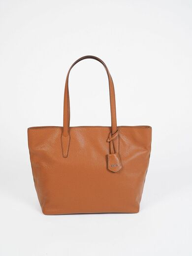 ABRO Shopper Leather Bag ruskea