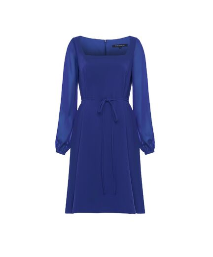 FRENCH CONNECTION Addinalla Crepe Square Dress clemente blue