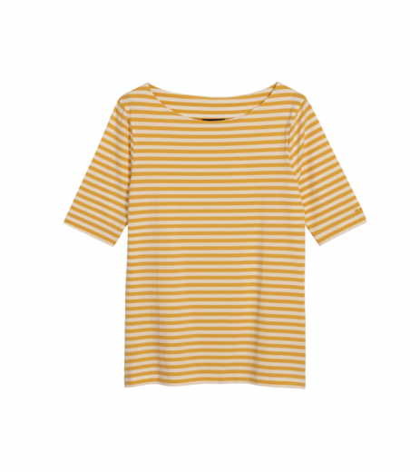 GANT Boatneck Striped Top honey gold