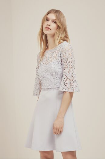 FRENCH CONNECTION Whisper Ruth Lace And Flare Dress