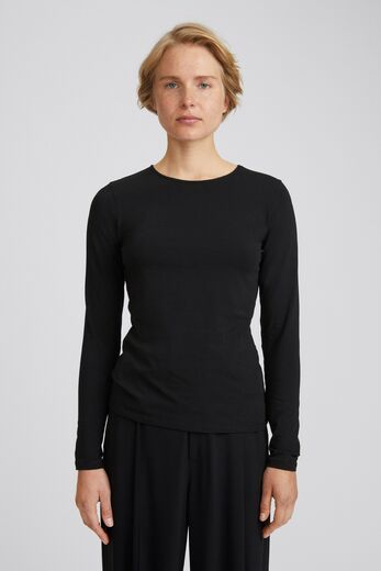 FILIPPA K Cotton Stretch Long Sleeve black