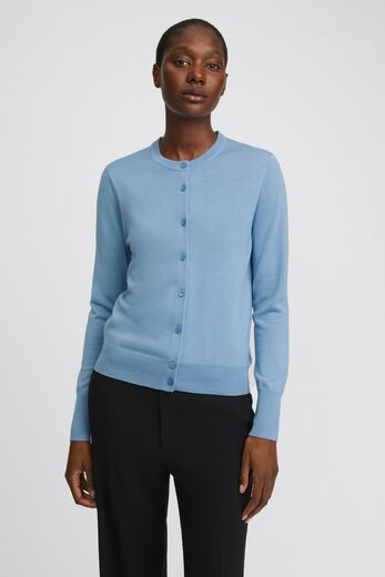 FILIPPA K Merino Short Cardigan faded blue