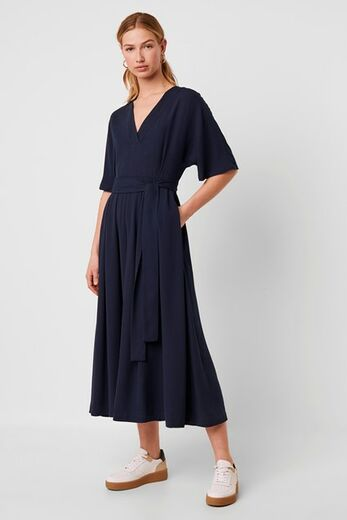 FRENCH CONNECTION Azana Crepe Belted Jumpsuit