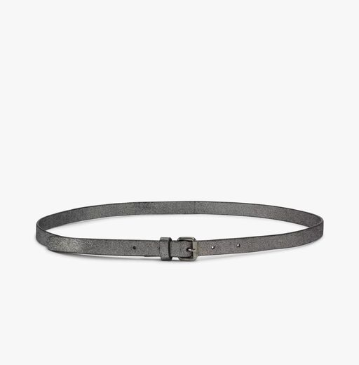 DAY ET Foil Narrow Leather Belt gunmetal
