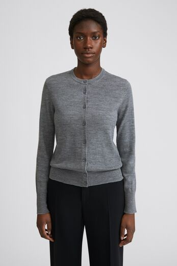 FILIPPA K Merino Short Cardigan grey