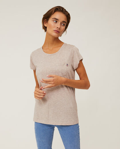 LEXINGTON Ashley Tee light brown melange