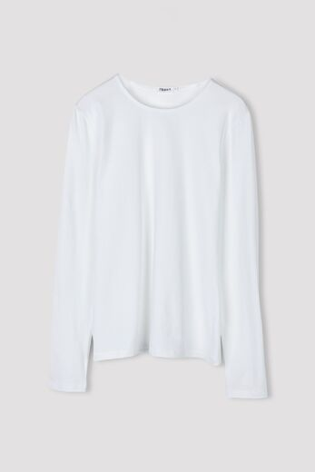 FILIPPA K Cotton stretch long sleeve valkoinen