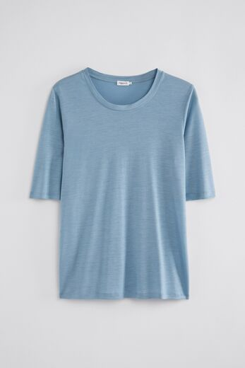 FILIPPA K Elena Tencel Tee faded blue