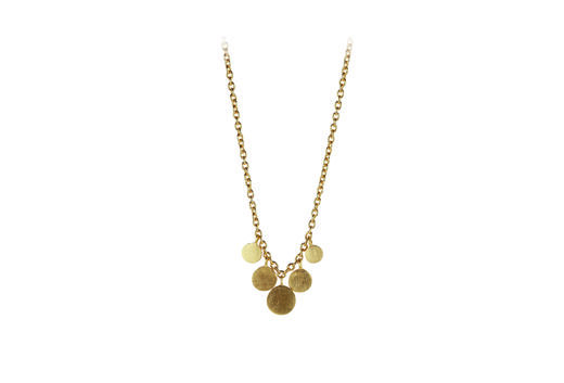 PERNILLE CORYDON Mini Coin Necklace kulta
