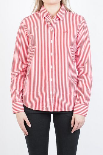 GANT Broadcloth Striped Shirt bright red
