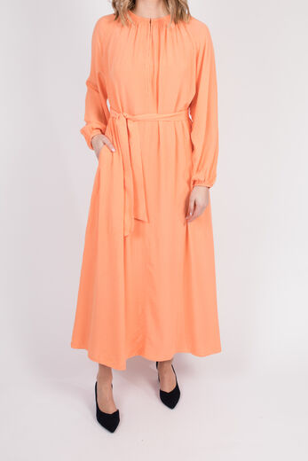 SAMSØE & SAMSØE Kaia long dress bright coral