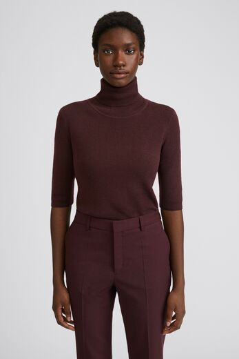 FILIPPA K Merino Elbow Sleeve Top maroon