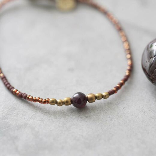 A BEAUTIFUL STORY Iris Garnet Bracelet