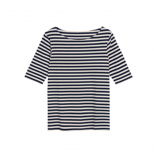 GANT Boatneck Striped Top evening blue
