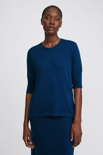 FILIPPA K Claire Elbow Sleeve marine blue